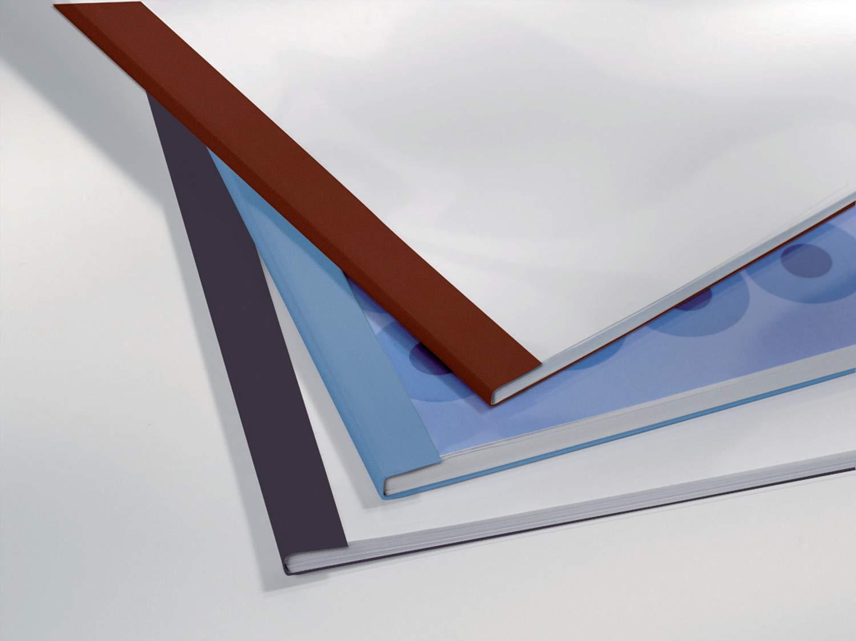 Carpetas t/érmicas 3 mm GBC LinenWeave color negro