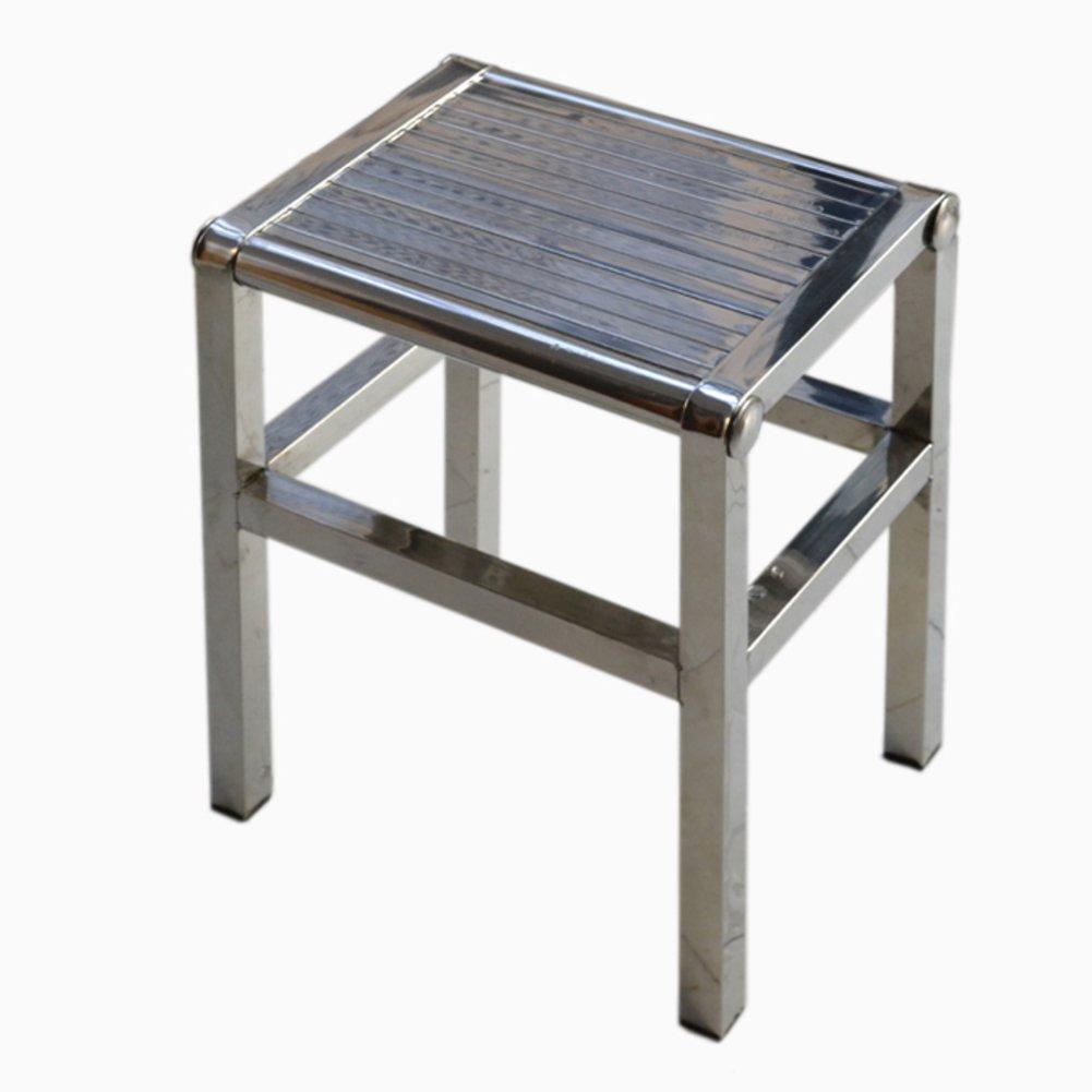 Denzihx Thickened Anti-skidding Metal Stool Chair,Stainless steel Handmade Step stool-B 30cm(12inch)