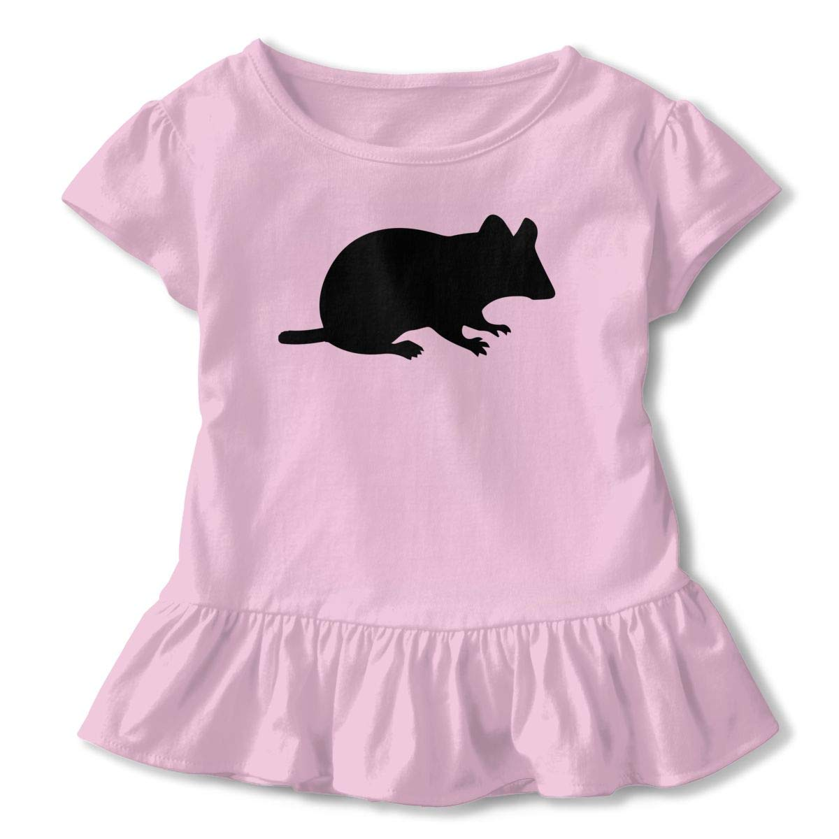 Mice Shirt Comfort Toddler Flounced T Shirts Tops for 2-6T Baby Girls