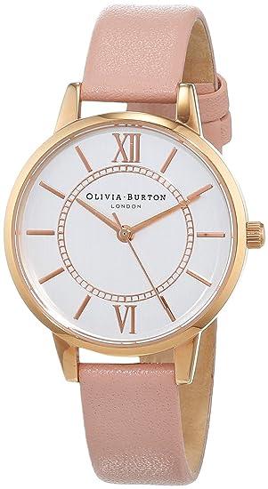 Olivia Burton Reloj Analógico para Mujer de Cuarzo con Correa en Cuero OB15WD28: Amazon.es: Relojes