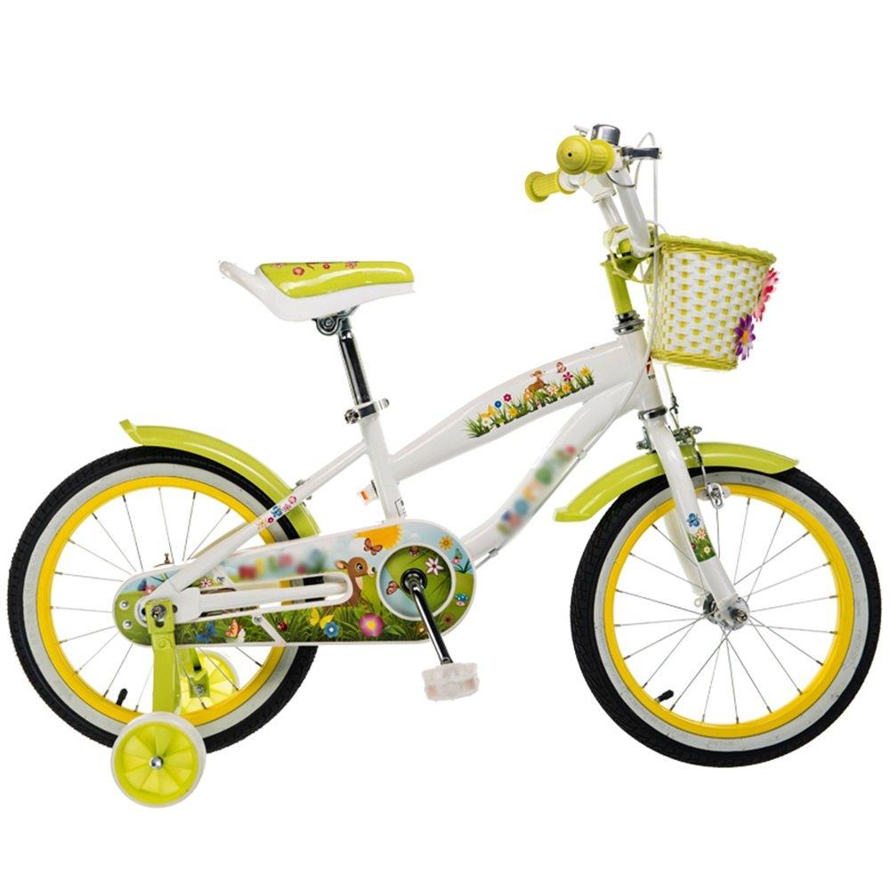 HAIZHEN マウンテンバイク 子供用自転車、高炭素鋼材12インチ、14インチ、16インチまたは18インチピンクグリーン 新生児 B07CCJQNFH 14 inch|緑 緑 14 inch