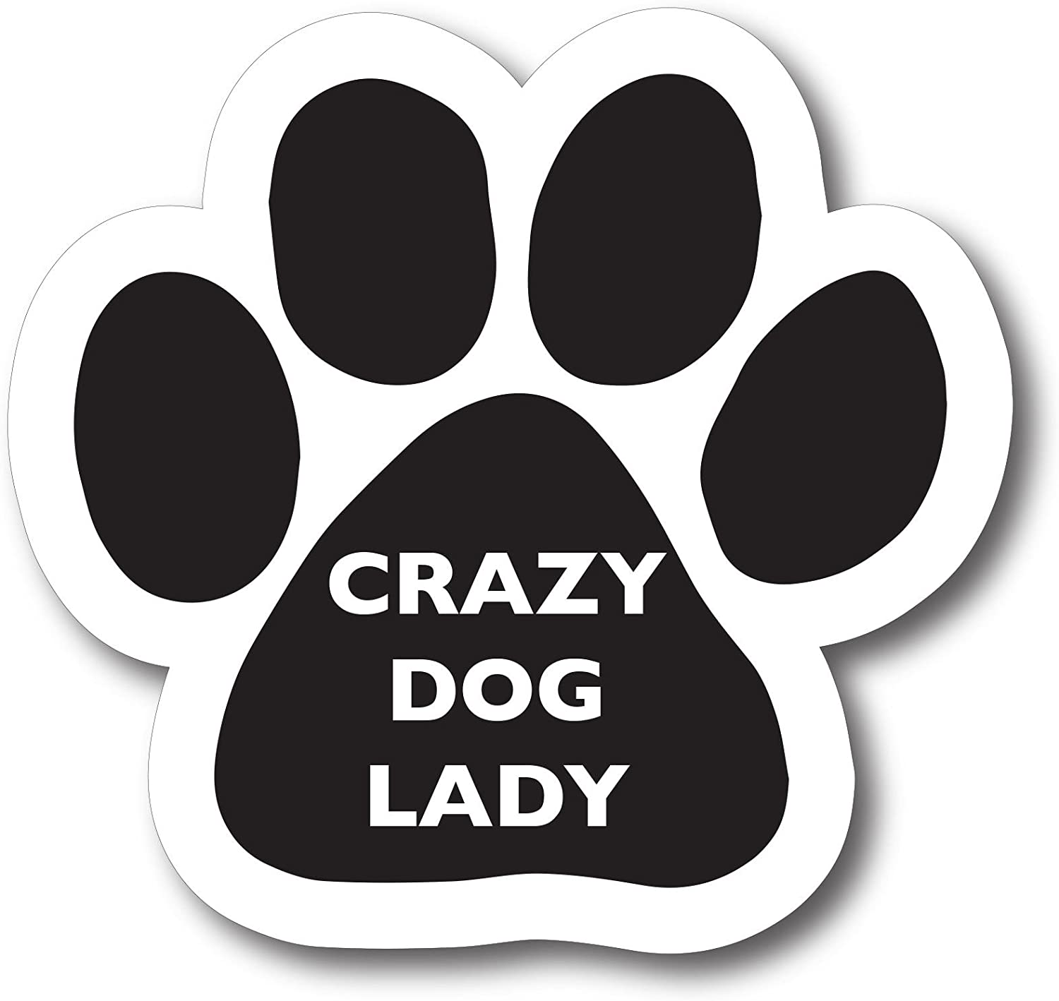 Magnet Me Up Crazy Dog Lady Pawprint Car Magnet Paw Print Auto Truck Decal Magnet