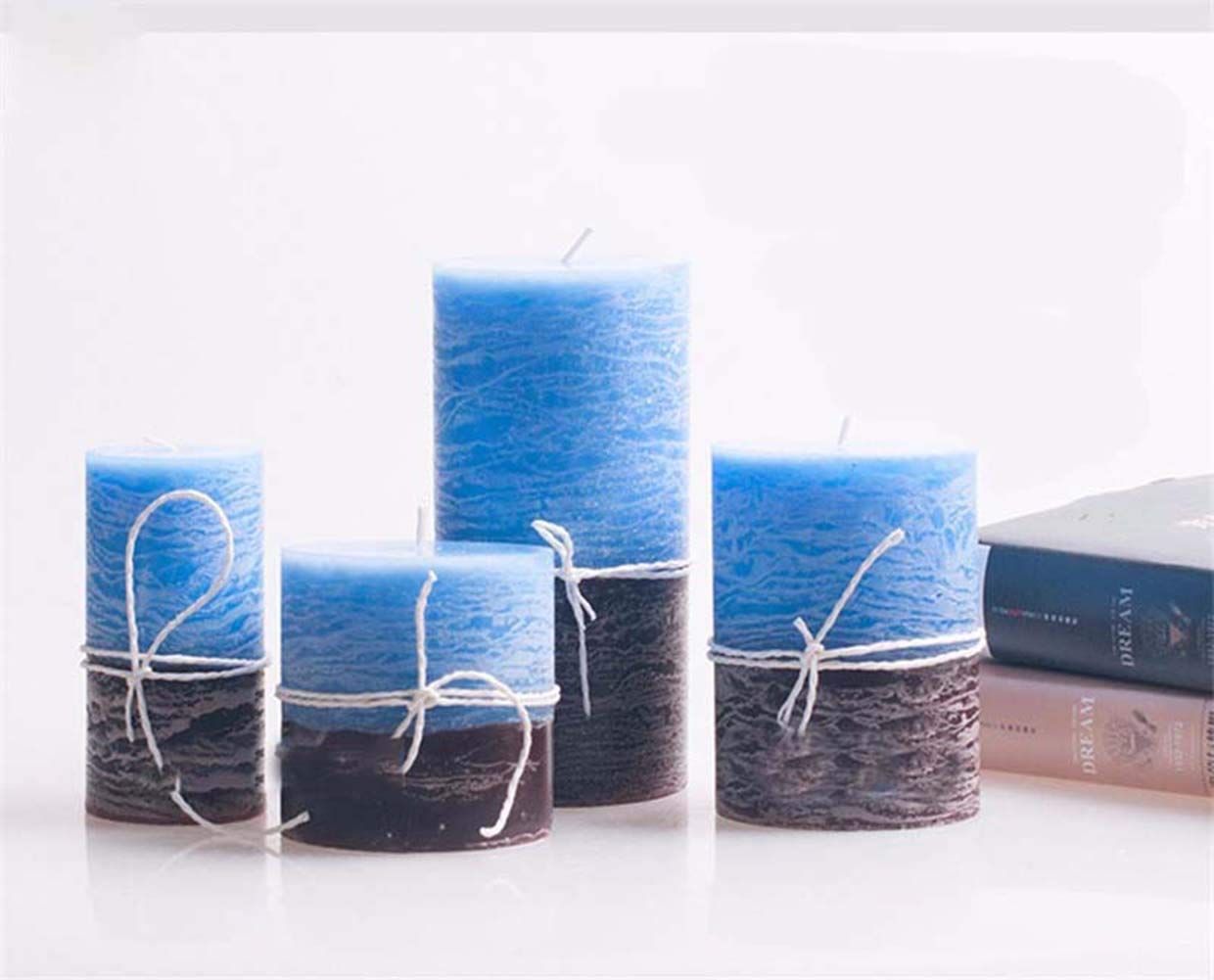Luxury Candle Wick Wedding Favors Decoration Smokeless Home Decor Aroma Blugie Parfum