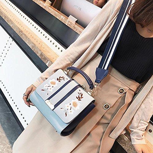 395580e54f ... Cuir En Messenger Main Femmes Dxlta Sac Épaule Floral Brodé À Sacs Pour  Bleu nqffU104Y ...