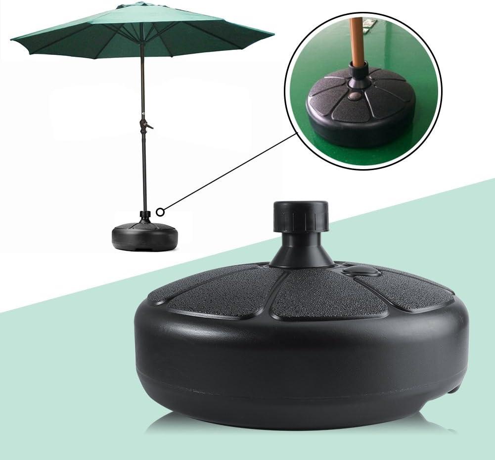 Supporto per ombrellone riempibile in plastica di forma rotonda con acqua di sabbia per giardino esterno Portaombrelli