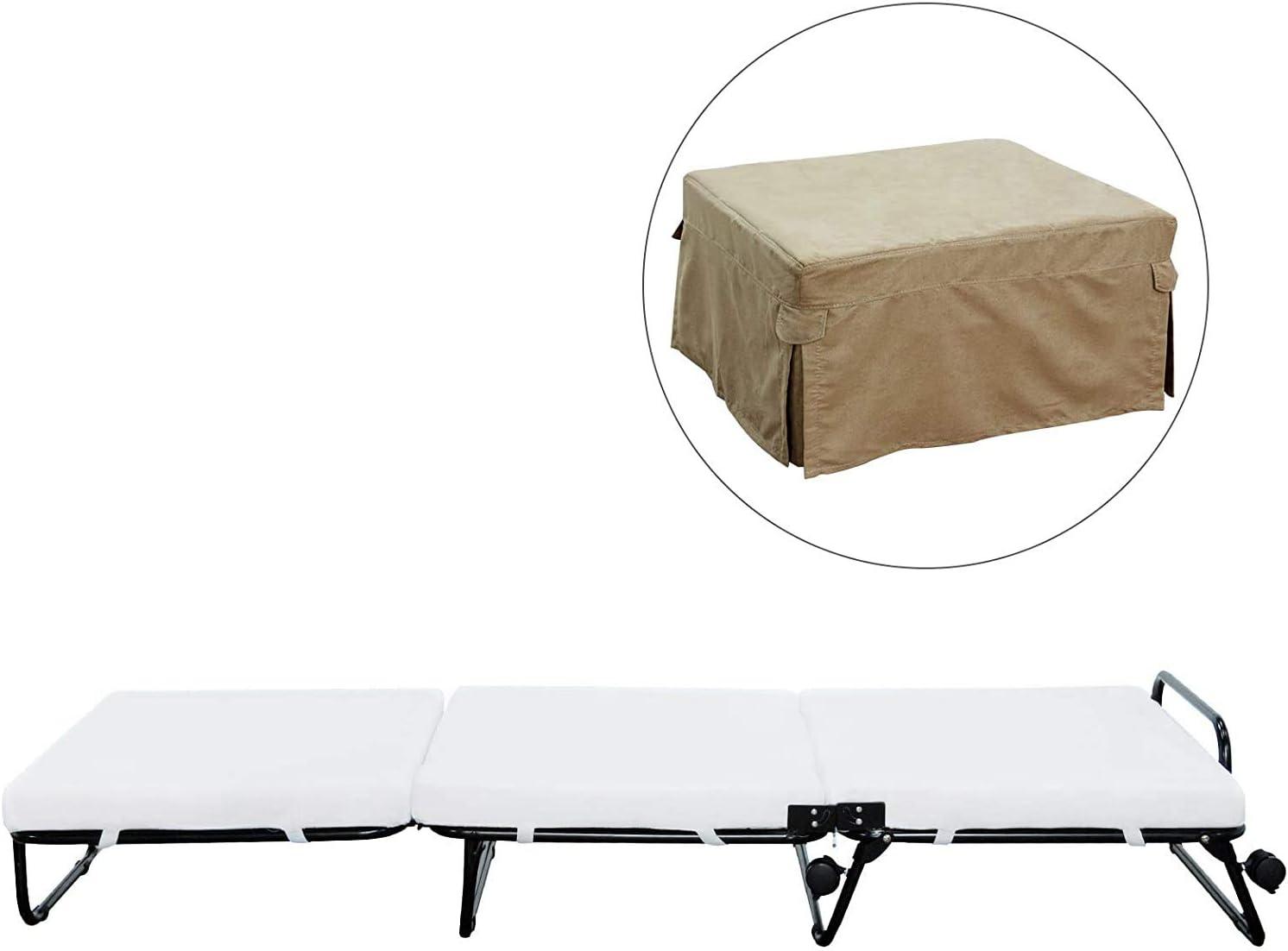- Amazon.com: HOMCOM Twin Size Folding Convertible Sleeper Bed