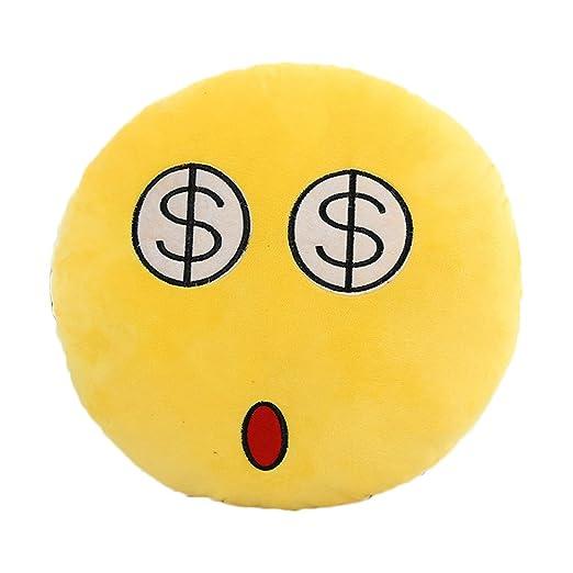joyi 30 cm con forma de emoticono amarillo cojín redondo ...