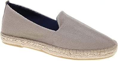 Alpargata Tejido Lona de Espiga con Piso Yute y Goma con Forro Textil: Amazon.es: Zapatos y complementos