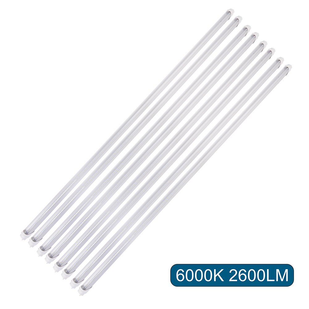Barrina T8 T10 T12 Led Light Tube 4ft 22w 6000k Super Bright Wiring Diagram Free Picture White 2600 Lumens Dual End Powered Clear Cover Fluorescent Bulbs