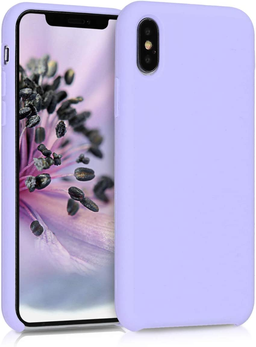 kwmobile TPU Silicone Case Compatible with Apple iPhone Xs - Soft Flexible Rubber Protective Cover - Lavender