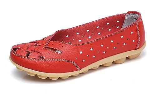 Gaatpot Mocasines para Mujer Respirable Ligero, cómodo y Antideslizante Moda Loafers Casual Zapatillas Verano Zapatos del Barco Zapatos para Mujer Zapatos ...