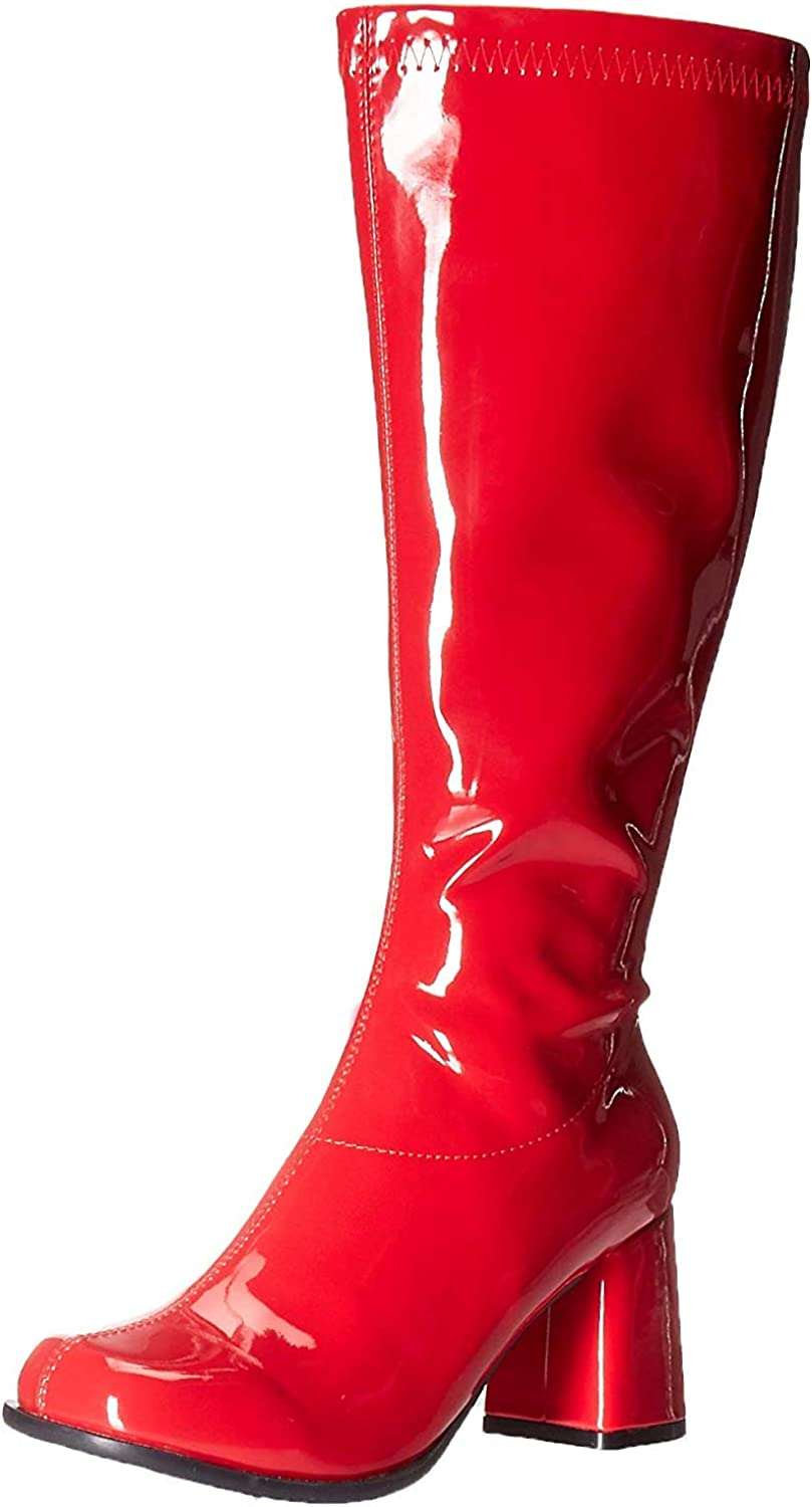 Womens Costume Adult Boots Size 9 Go-Go Boots Red Womens