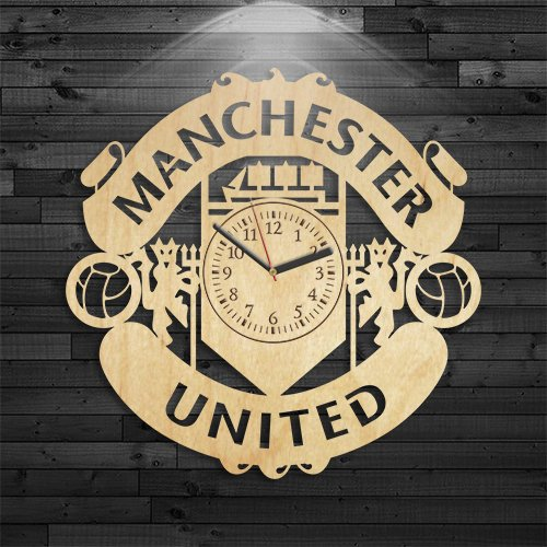 Manchester United Gift For Men, Football Club Wood Clock, Birthday Gift, Manchester United Clock, Football Club Wooden Clock, Wall Clock Vintage, Gift For Boy, Wall Clock Modern by VinylCity