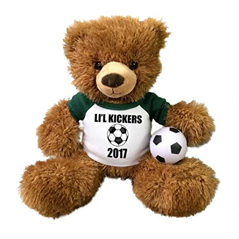 7adbfd80 Image Unavailable. Image not available for. Color: Personalized Soccer  Teddy Bear ...
