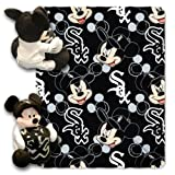 MLB Chicago White Sox Pitch Crazy Co-Branded Disney's Mickey Hugger and Fleece Throw Set