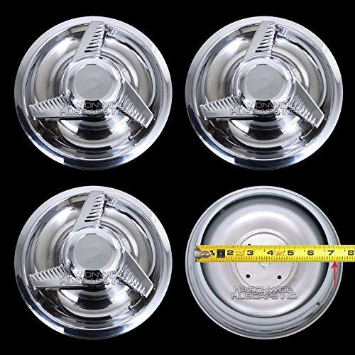 - 4 New Chevy GM 3 Bar Spinners Rally Wheel Center Hub Caps Rim 5 Lug Nut Covers 14x6,14x7,15x6,15x7,15x8 RALLY WHEELS
