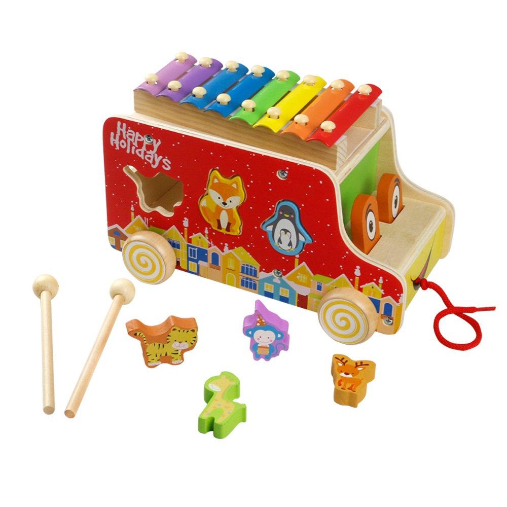 tirar juguete Madera coches xilófono ranuras Animales Juguete para después de con formas Nou para niños Niño Niña