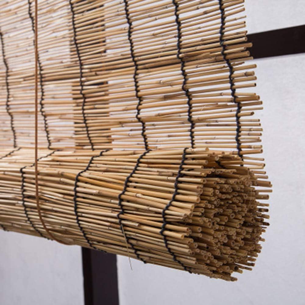 S-AIM Caña Cortina Bambú Rodillo Ciego Cortar Apagado Sombreado Quitasol Vendimia Decoración, Ligero Filtración Enrollar Persianas para Cubierta, Patio, glorieta, pérgola: Amazon.es: Hogar