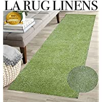 LA RUG LINENS HUGE BLOWOUT SALE Brand New Excellent Quality Green 2x7 Long Runner Shag Shaggy Hallway Floor Kitchen Indoor Fluffy Furry Fuzzy Popcorn Teddy Bear Touch Soft Comfy Puffy Carpet Area Rug