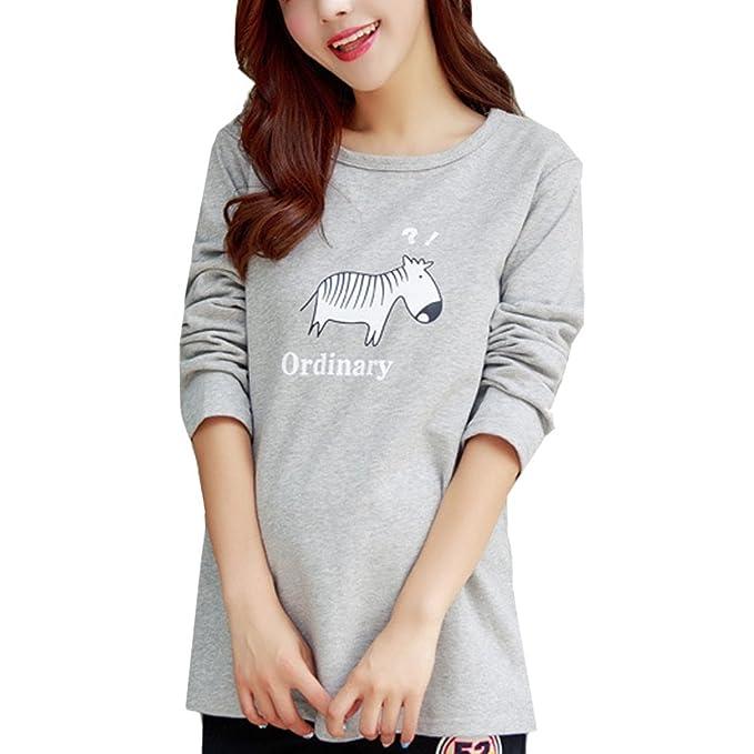 Laixing Maternity Long Sleeve Fashion Korean Style La mujer embarazada Women Bottoming Shirt Top