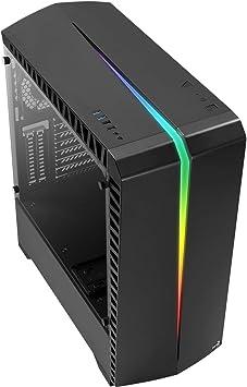Aerocool Scar Caja de PC, ATX, Cristal Templado, RGB 15 Modos ...