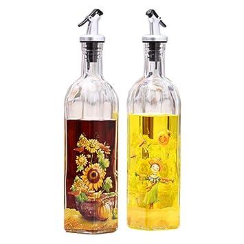 2pcs hermoso cristal vinagrera botella de aceite vinagre botella de aceite recipiente, no. 3