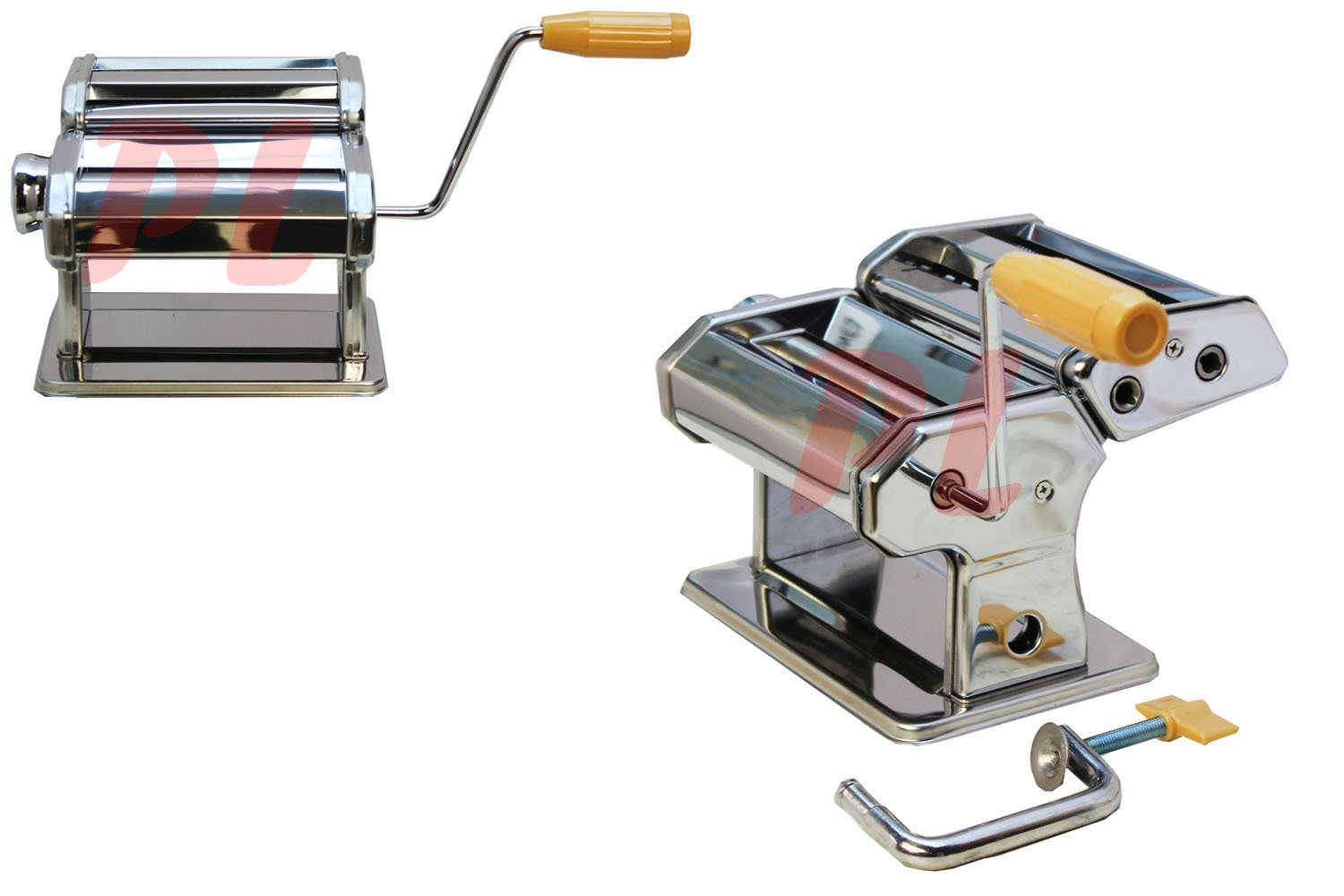Manual 7'' Stainless Steel Pasta Maker Crank Machine 3 Different Types of Pasta