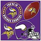 Kyпить NFL Minnesota Vikings Unisex NFL 4Piece Magnet Setnfl 4Piece Magnet Set, Purple, One Size на Amazon.com