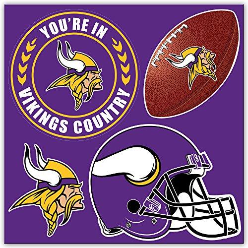 NFL Minnesota Vikings 4-Piece Magnet Set, Purple,