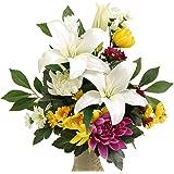 枯れない仏花(大)百合 シルクフラワー造花