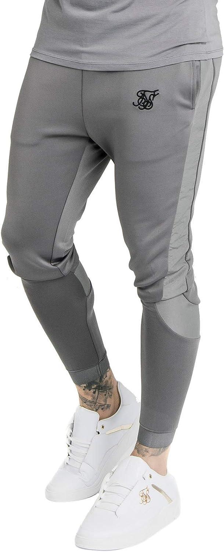 SikSilk Creased Nylon Pants Grey