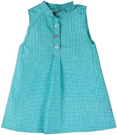 iobio - Vestido - Camisa - Sin mangas - para niña verde 3/4 años: Amazon.es: Ropa y accesorios