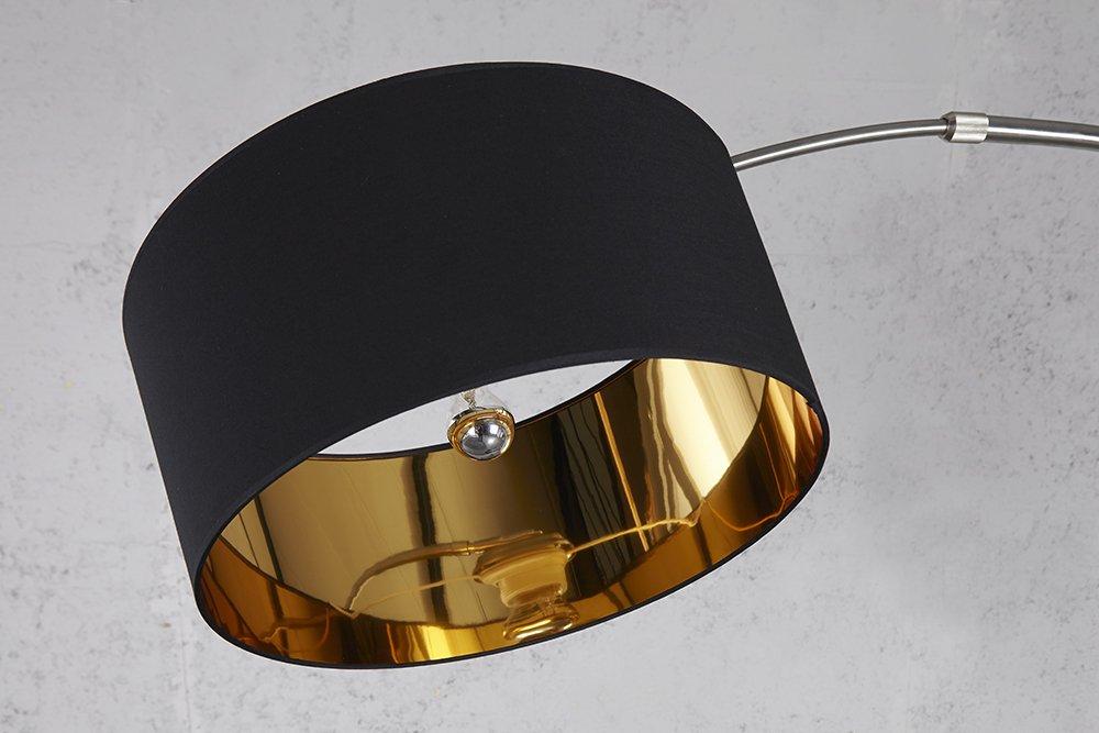 Bogenlampe Weiss Mit Dimmer ~ Stehleuchte bogenlampe nica schwarz gold mit dimmer amazon