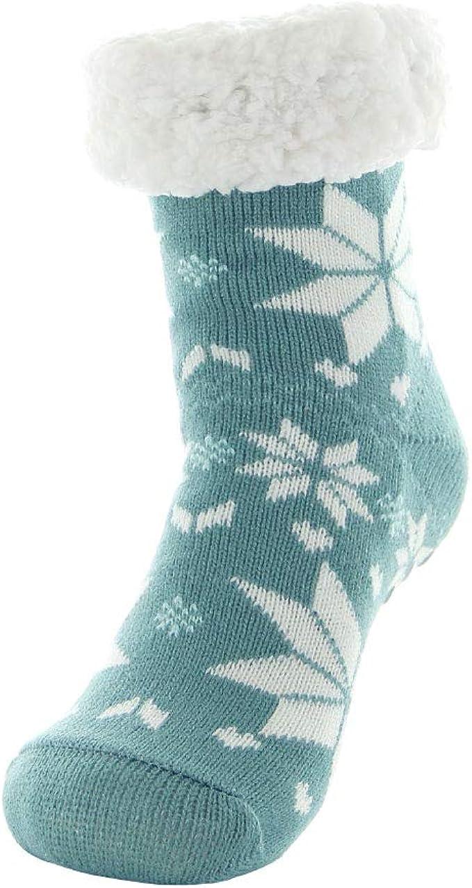 Damen Hüttensocken Kuschelsocke 37-42 Hüttensocke Warme Stopper-Socken ABS Sohle