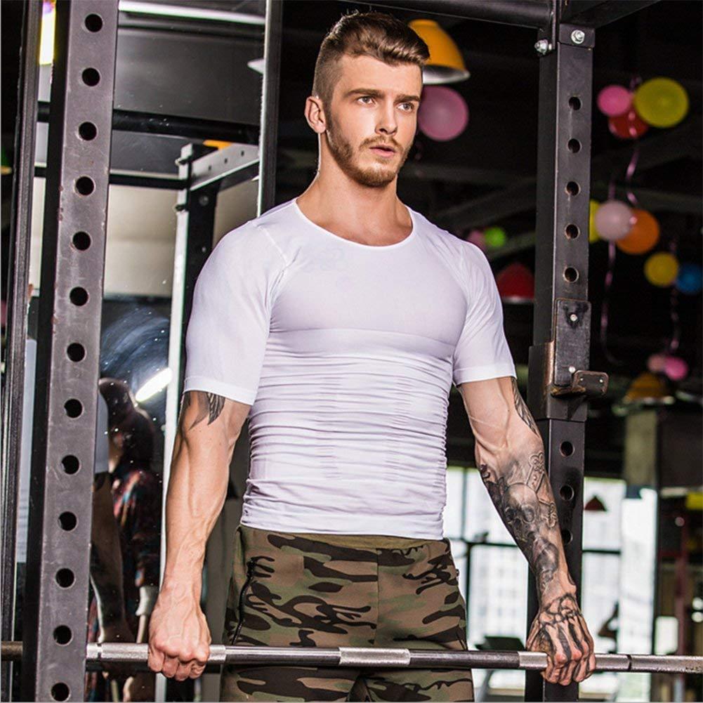 Maglietta Slim Fit Camicie Shapewear Bodywear Uomini Canotta Dimagrante Body Shaper Maglietta da Compressione