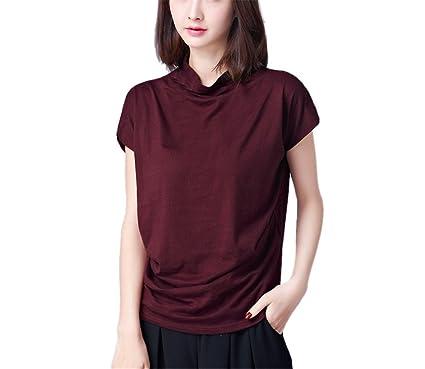 Fondo Yuch Camiseta Señoras De Alto Cuello Está Tocando 1fYURTqw