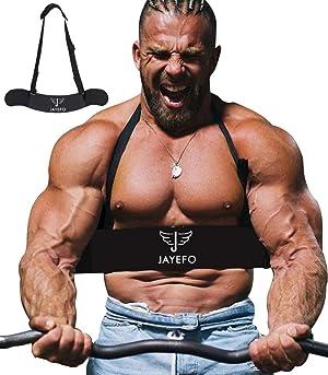 Jayefo Sport Arm Blaster for Curl Bar Arm Biceps Triceps Dumbbells & Barbells Bicep Isolator Strength Curling Muscle Gains Preacher Bar Bodybuilding Weightlifting