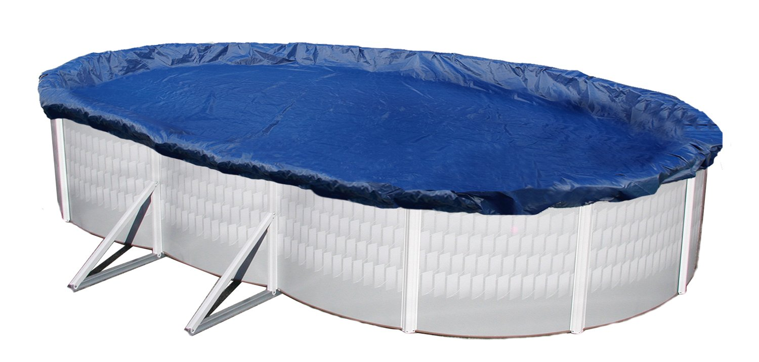 Blue Wave Gold 15-Year 15-ft x 30-ft Oval Above Ground Pool Winter Cover by Blue Wave