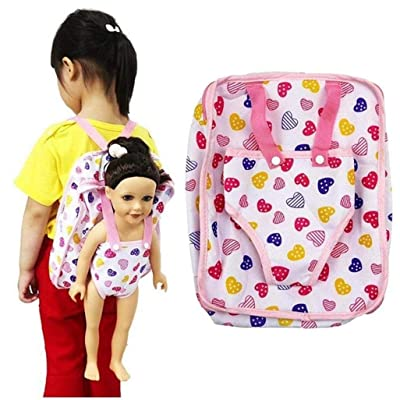 """Angel Baby Doll Carrier Backpack Storage Sleeping Bag Doll Accessories for 15""""~18"""" American Girl Doll Backpack Carrier: Toys & Games"""