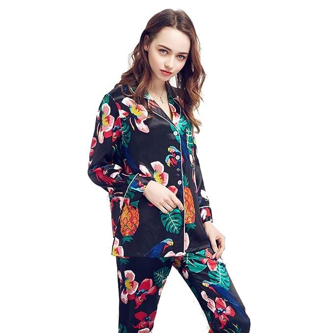TT Global mujeres 2-en-1 Las señoras pijamas sedosas camisón, lujo y