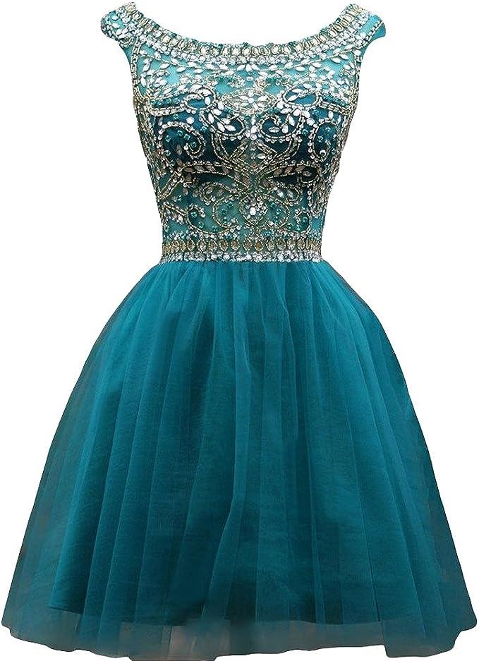 Kleid Passgenau A Linie Ballkleid Kristall Kleider Zeremonie Kurz Himmelblau Gr 54 Robe 16529hu Amazon De Bekleidung