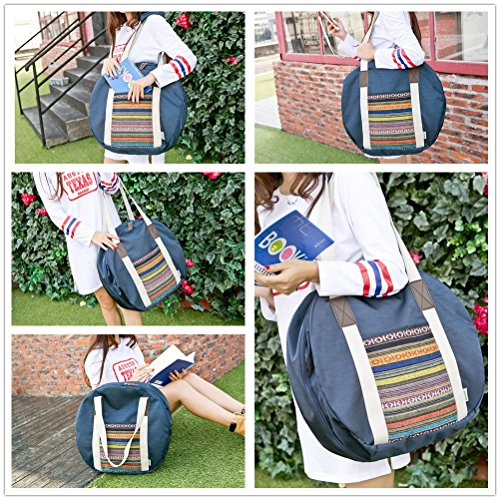 Yiuswoy Faltbare Oxford Cloth Reise-Gepäck Leichtgewicht Reisetaschen Weekender Tasche Sporttaschen Seesack - Dunkelgrau