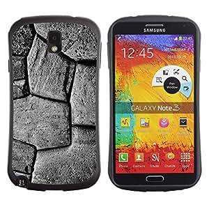 LASTONE PHONE CASE / Suave Silicona Caso Carcasa de Caucho Funda para Samsung Note 3 N9000 N9002 N9005 / Pattern Stone Building Black White
