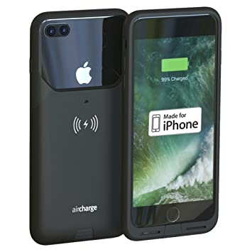 factory authentic f755c 399b2 Aircharge MFi Certified Wireless Charging Case for iPhone 7 Plus -Black