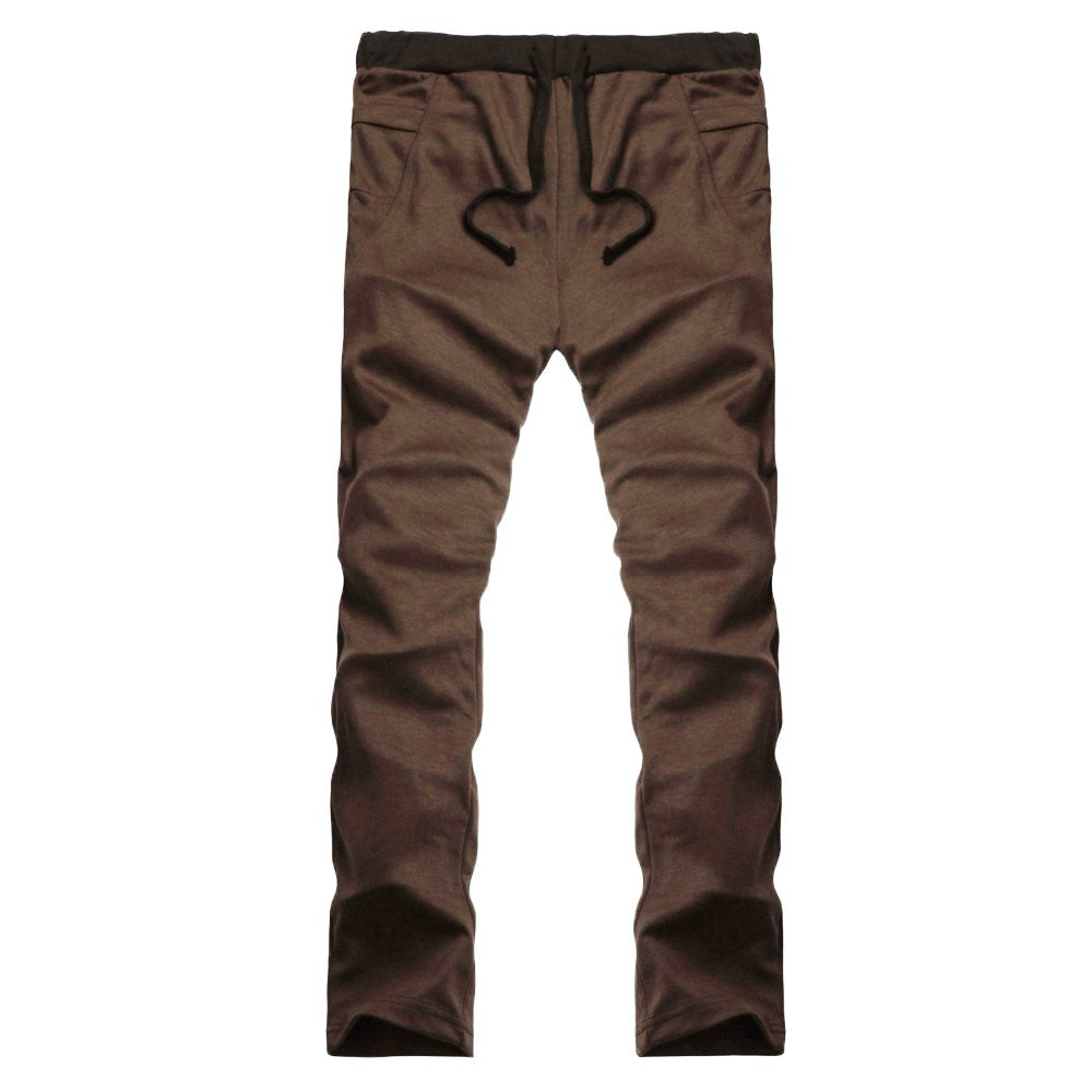 TnaIolral Mens Pants Casual Trunks Sweatpants Trousers Coffee