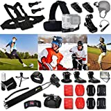 Xtech HOCKEY ACCESSORIES Kit for GoPro Hero 4 3+ 3 2 1 Hero4 Hero3 Hero2 - Hero 4 Silver - Hero 4 Black - Hero 3+ Hero3+ Hero 3 Silver - Hero 3 Black and for basketball - Soccer - Football - Golf - Golfing - Tennis - Baseball - Volleyball - Beach-ball - Hockey - Ice Hockey and other Similar Sport Activities Includes: + Head Strap Mount + Helmet Harness Mount + Chest Strap Mount + 2 J-Hook Mount + Camera Wrist Mount + Selfie Stick Monopod Pole +MORE