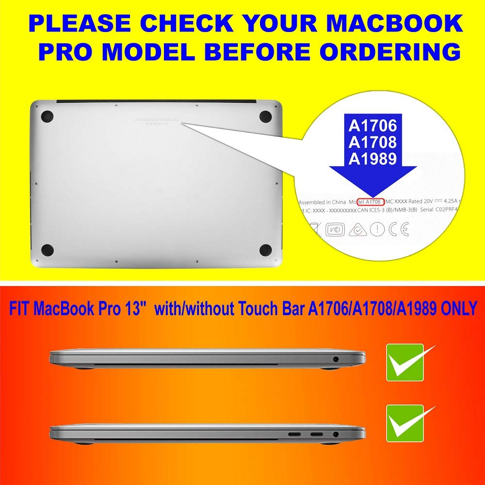 2PC Pack Blue Light Blocking Screen Protector for MacBook Pro 13 inch with or Without Touch Bar 2016-2019 Model A1706 A1708 A1989 by AyaWico (Image #2)