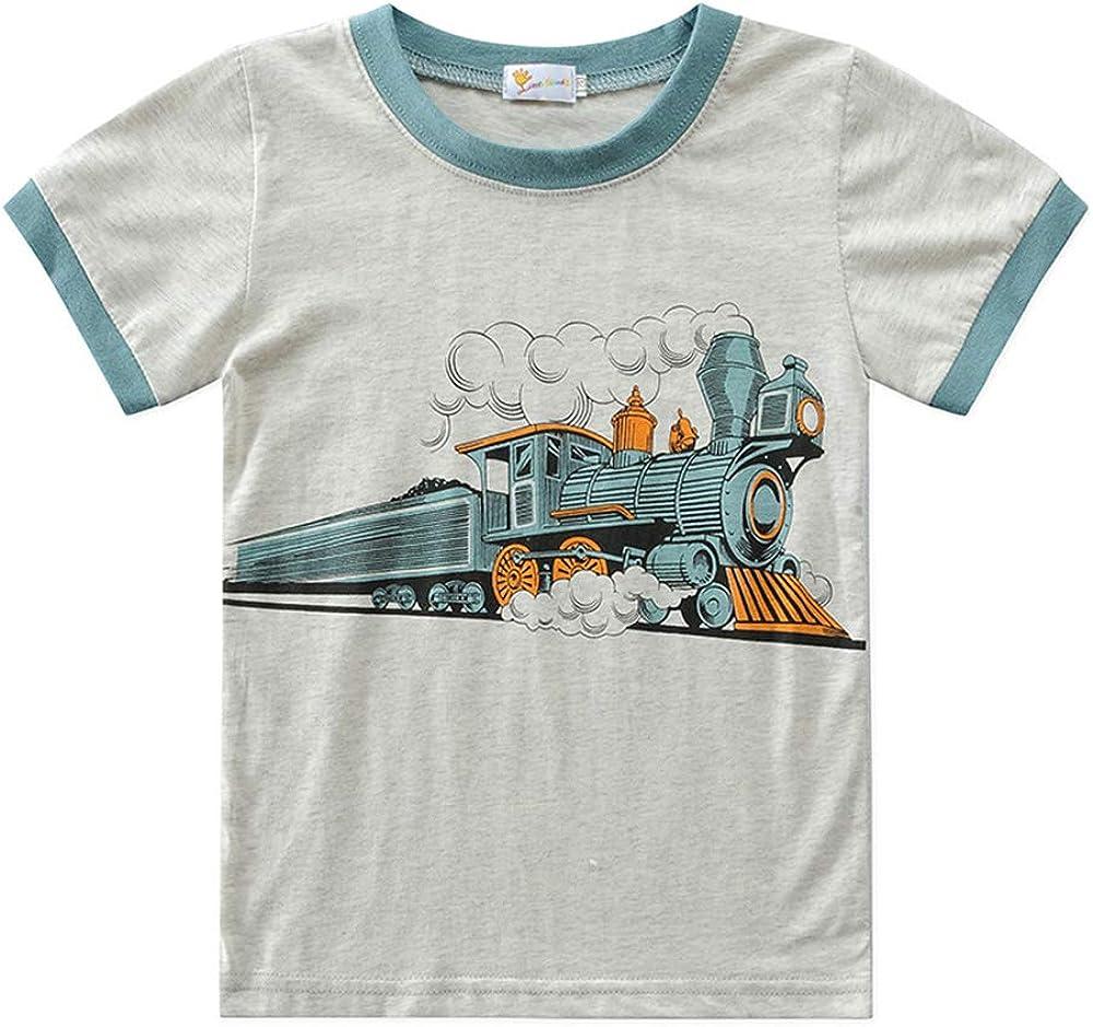 Estivo Creativo Automobili Stampa Pigiami Set Bambino Pigiama Include Pantaloni Corti Fansu Pigiama Due Pezzi di Cotone Manica Corta per Bambino Ragazzi T Shirt