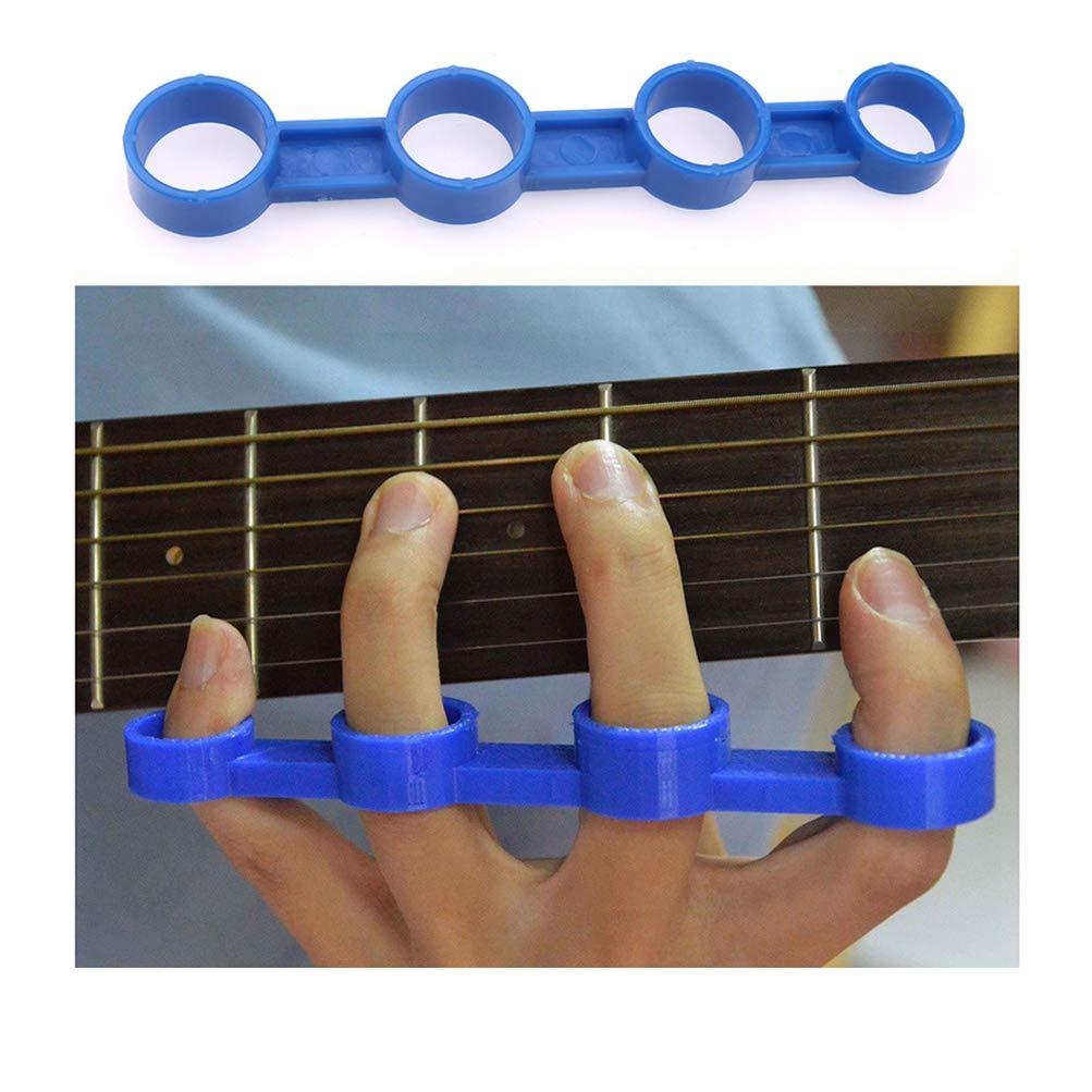 Healifty chitarra acustica espansione dito manicotto di plastica finger force span pratica strumento musicale per principianti blu taglia l