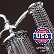 """Amazon Lightning Deal 93% claimed: AquaDance® 7"""" Premium High Pressure 3-way Rainfall Shower Combo Combines the Best of Both Worlds - Enjoy Luxurious 6-Setting Rain Showerhead and 6-setting Hand Held Shower Separately or Together!"""